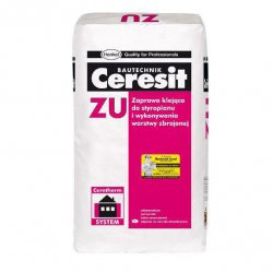 Ceresit - adhesive mortar for foamed polystyrene and reinforcing layer ZU