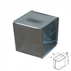 Xplo - protective sheet made of aluminum sheet - rectangular hood