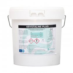 Krystaline - a fast setting mortar for stopping the flow of Krystaline Plug water