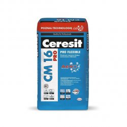 Ceresit - adhesive mortar reinforced with CM 16 Pro Flexible fibers